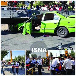 بازداشت پیمانکار پارک بسیج در پی سقوط جرثقیل
